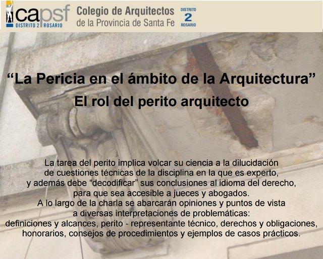 «La Pericia en el ámbito de la arquitectura»   El rol del perito arquitecto