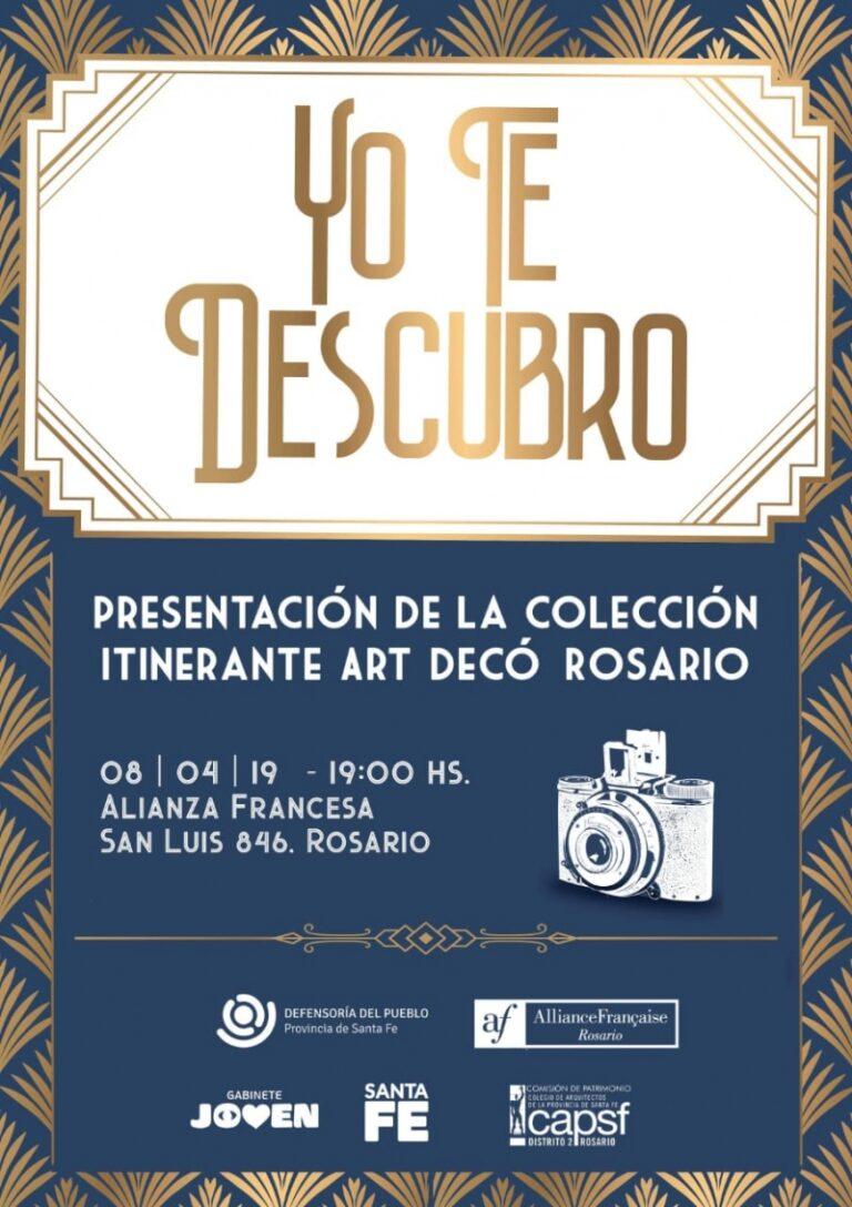 """Presentación de la Colección Itinerante Art Decó Rosario """"Yo te descubro"""""""