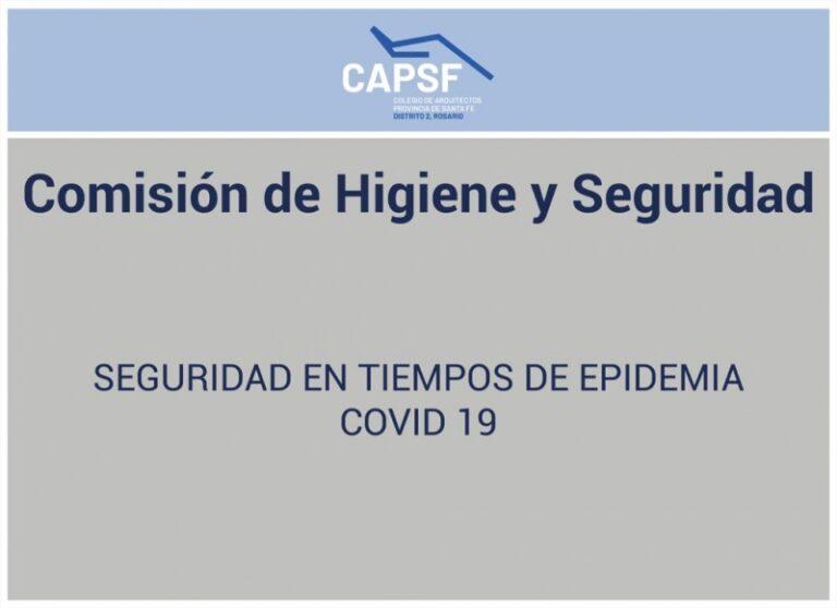 Seguridad en tiempo de epidemia COVID-19