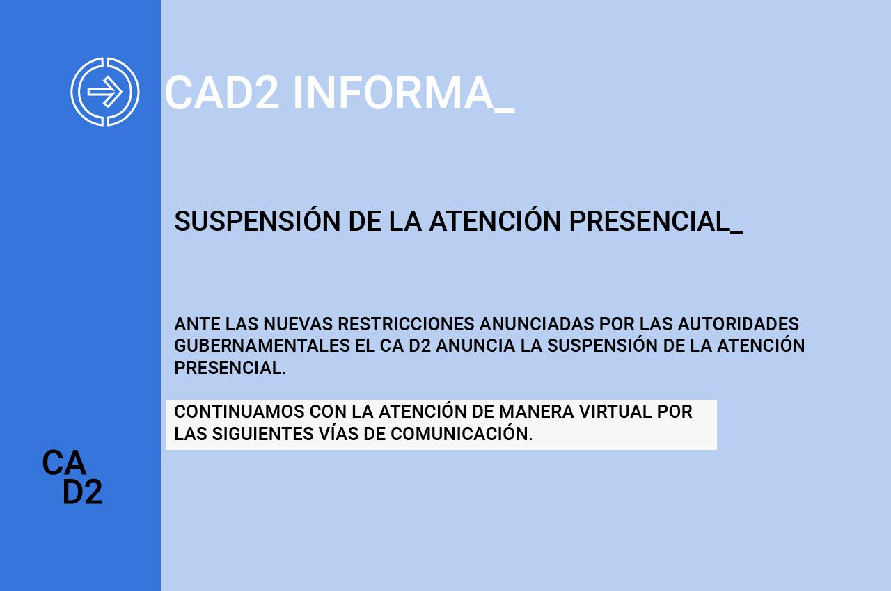 SUSPENSIÓN DE LA ATENCIÓN PRESENCIAL