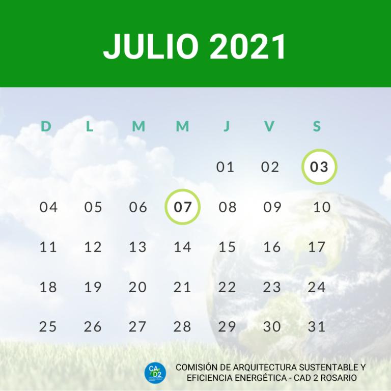 CALENDARIO AMBIENTAL JULIO 2021