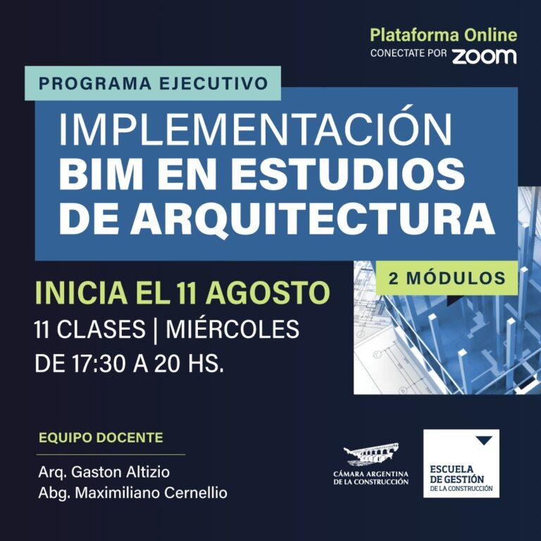 PROGRAMA DE IMPLEMENTACIÓN BIM EN ESTUDIOS DE ARQUITECTURA