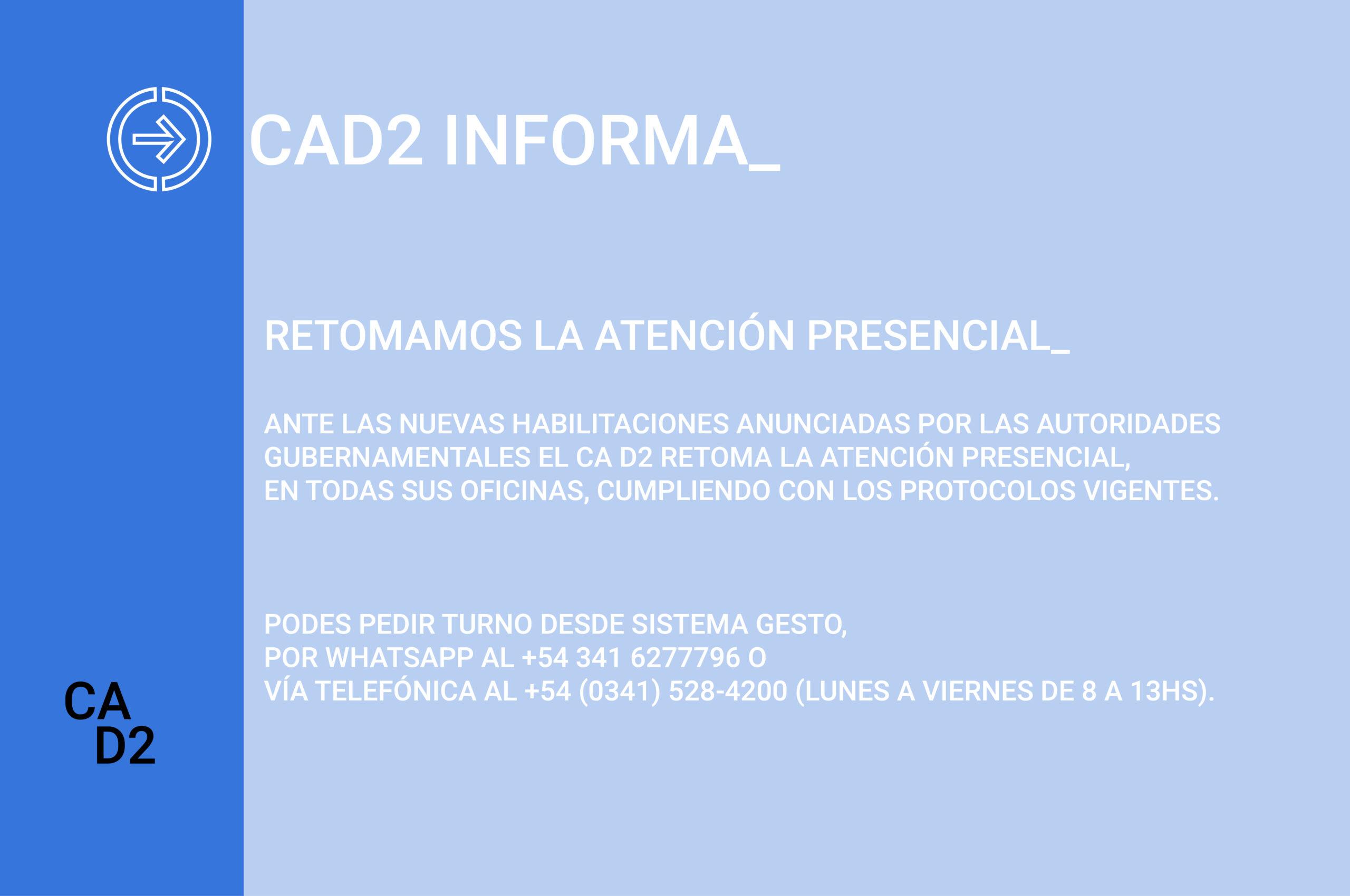 RETOMAMOS LA ATENCIÓN PRESENCIAL_
