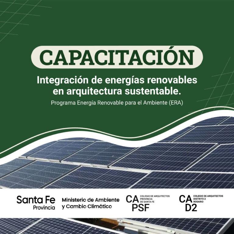 NUEVO CURSO DE INTEGRACIÓN DE ENERGÍAS RENOVABLES EN LA ARQUITECTURA